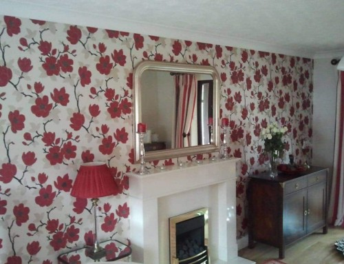 Wallpaper  and Paint Living Room