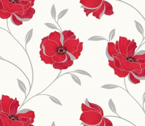 red floral paper